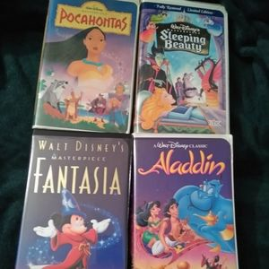 Disney VHS tapes, good condition